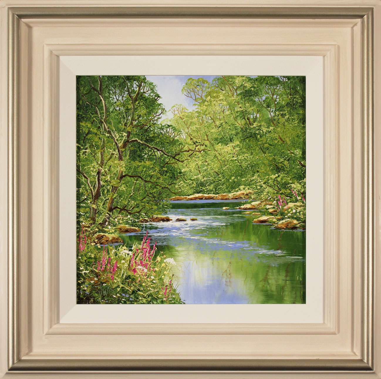 Terry Evans, Original oil painting on canvas, Woodland Stream Click to enlarge