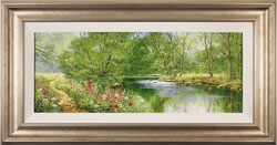 Terry Evans, Original oil painting on canvas, Woodland Walk