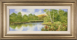 Terry Evans, Original oil painting on canvas, Waterside Walk Medium image. Click to enlarge