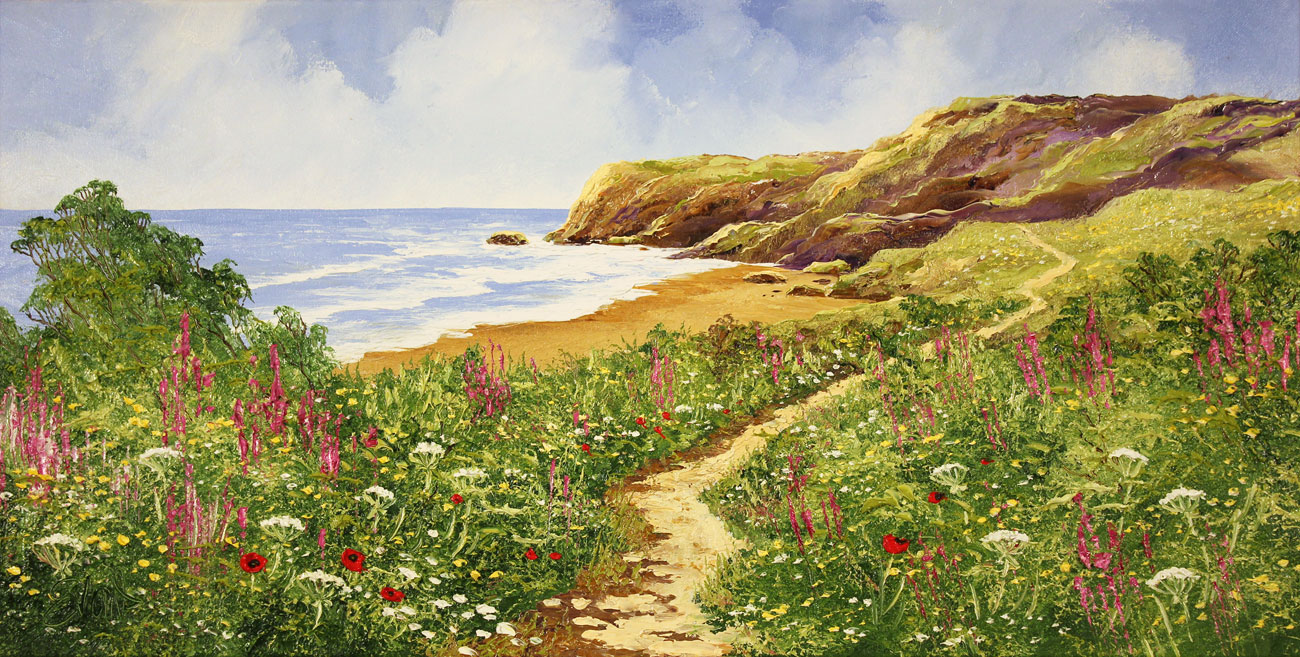 Terry Evans, Original oil painting on canvas, Coastal Walk Click to enlarge