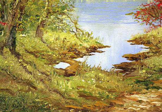 Terry Evans, Original oil painting on canvas, Early Autumn Wood Signature image. Click to enlarge