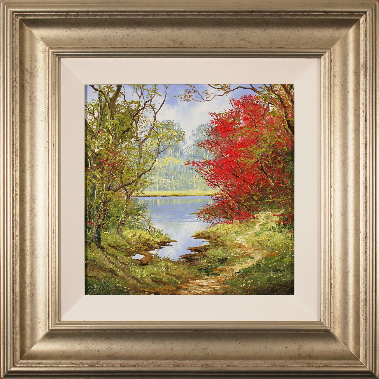 Terry Evans, Original oil painting on canvas, Early Autumn Wood Click to enlarge