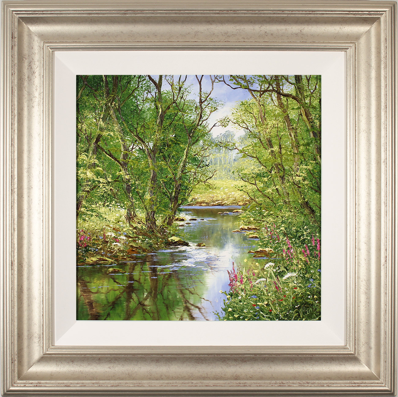Terry Evans, Original oil painting on panel, Quiet of the Wood Click to enlarge