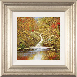 Terry Evans, Original oil painting on canvas, Autumn Falls Medium image. Click to enlarge