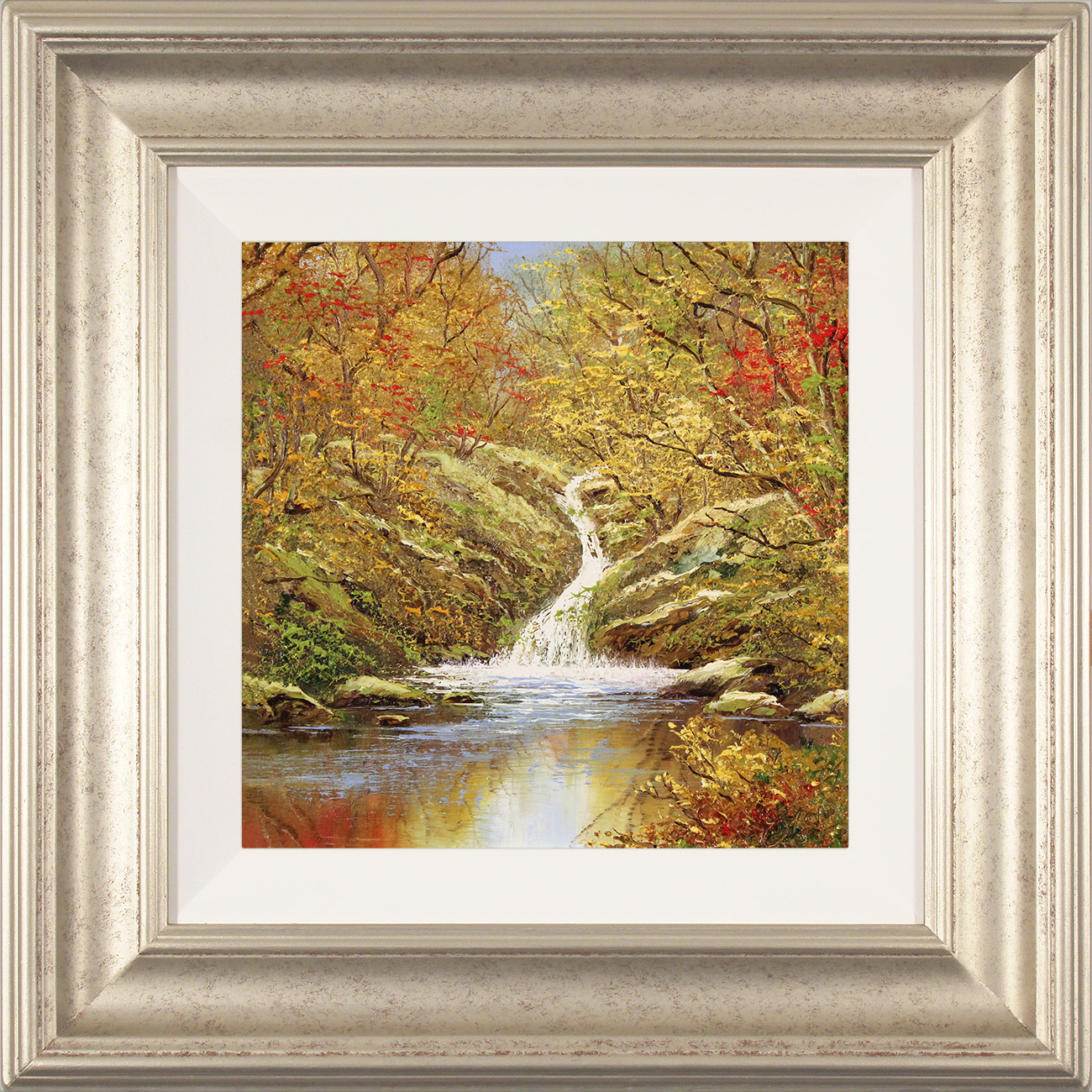 Terry Evans, Original oil painting on canvas, Autumn Falls Click to enlarge