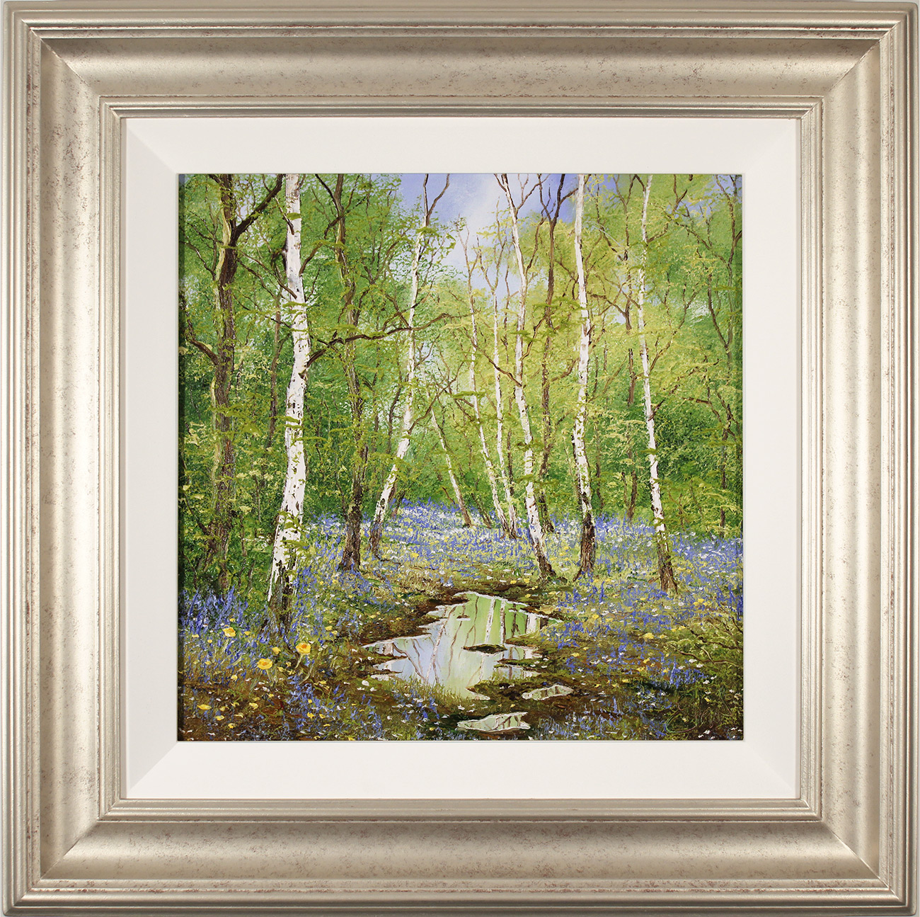 Terry Evans, Original oil painting on canvas, The Bluebell Wood Click to enlarge