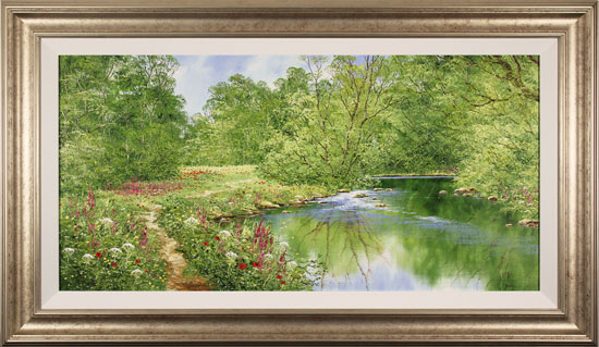 Terry Evans, Original oil painting on canvas, Beckside Trail