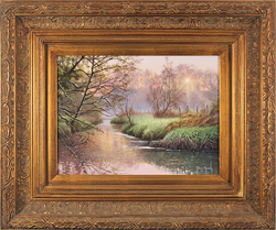 Terry Grundy, Original oil painting on panel, Daybreak