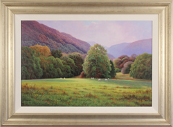 Terry Grundy, Original oil painting on panel, The Lower Meadow