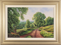 Terry Grundy, Original oil painting on panel, Farm Track