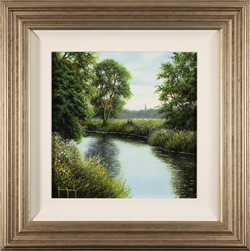Terry Grundy, Original oil painting on panel, River Wharfe, North Yorkshire
