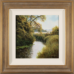 Terry Grundy, Original oil painting on panel, Summer's End Medium image. Click to enlarge