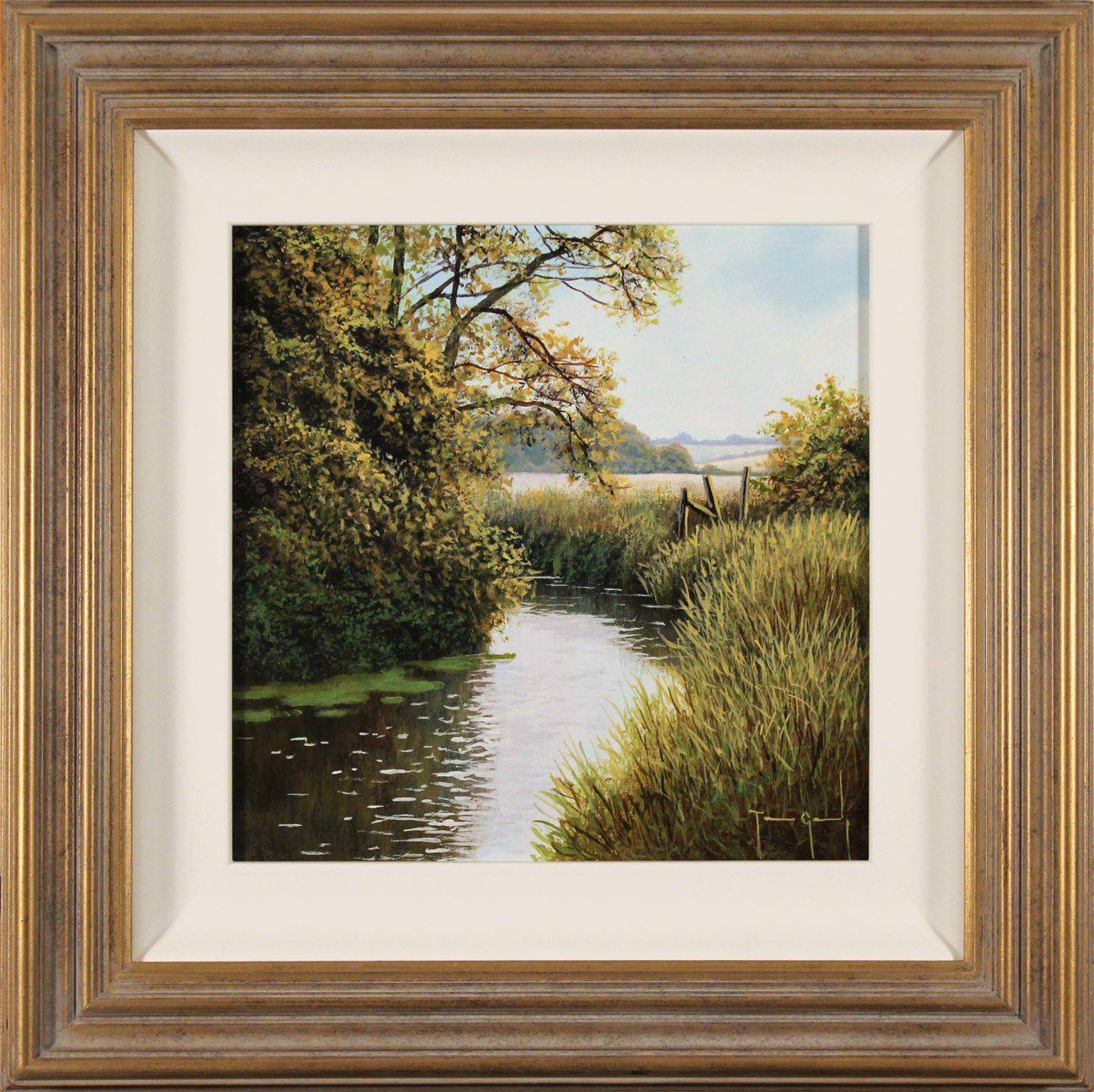 Terry Grundy, Original oil painting on panel, Summer's End Click to enlarge
