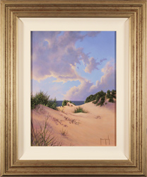 Terry Grundy, Original oil painting on panel, Sand, Sea and Sky