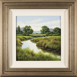 Terry Grundy, Original oil painting on panel, River Swale, North Yorkshire Medium image. Click to enlarge