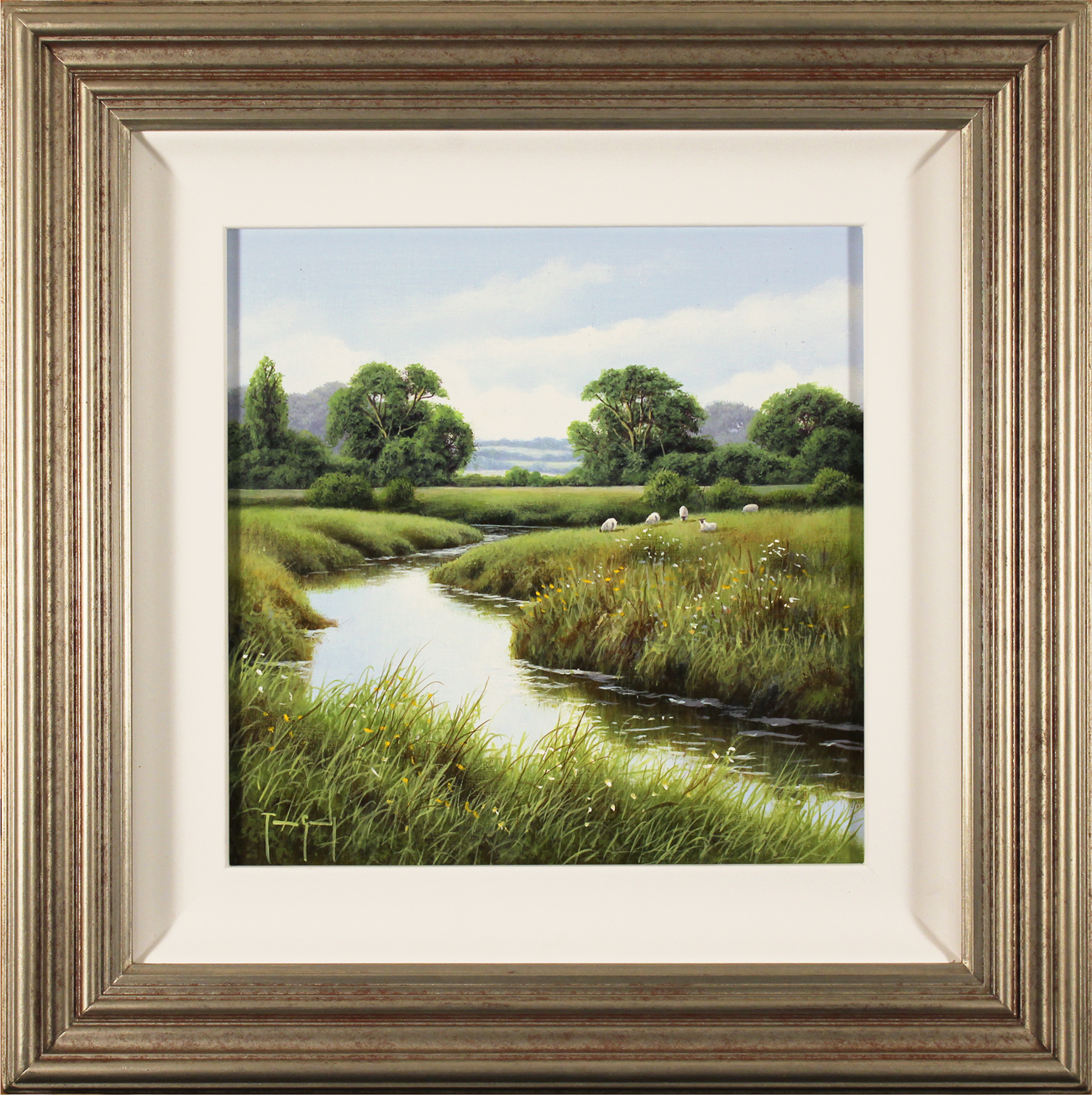 Terry Grundy, Original oil painting on panel, River Swale, North Yorkshire Click to enlarge