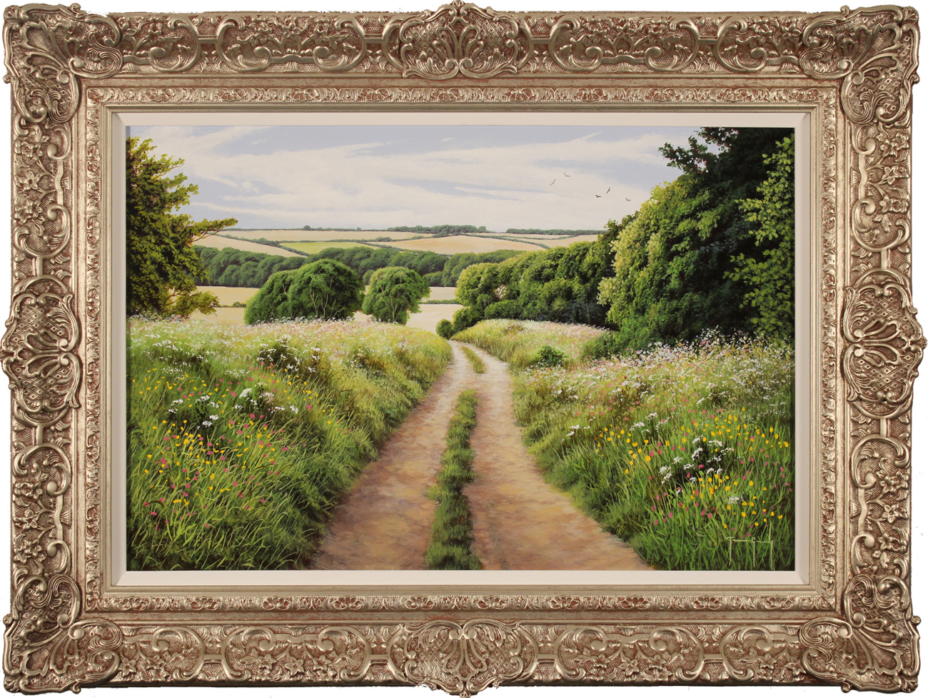 Terry Grundy, Original oil painting on panel, Summer in the Yorkshire Wolds Click to enlarge