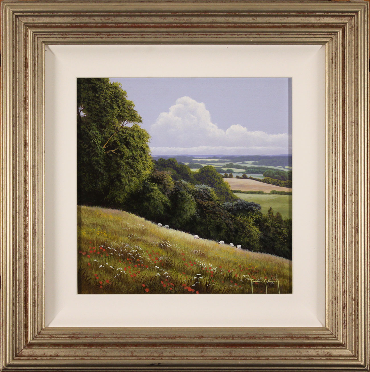 Terry Grundy, Original oil painting on panel, Summer Pastures Click to enlarge