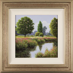 Terry Grundy, Original oil painting on panel, Peaceful Moment