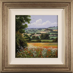 Terry Grundy, Original oil painting on panel, Patchwork of the Yorkshire Wolds