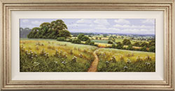 Terry Grundy, Original oil painting on panel, Summer Pastures