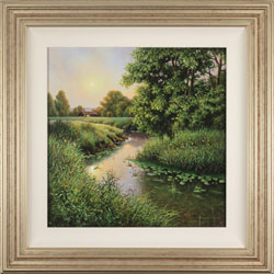 Terry Grundy, Original oil painting on panel, Evening Light