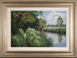 Terry Grundy, Original oil painting on panel, Riverbank Farm