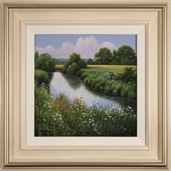 Terry Grundy, Original oil painting on panel, Days of Summer