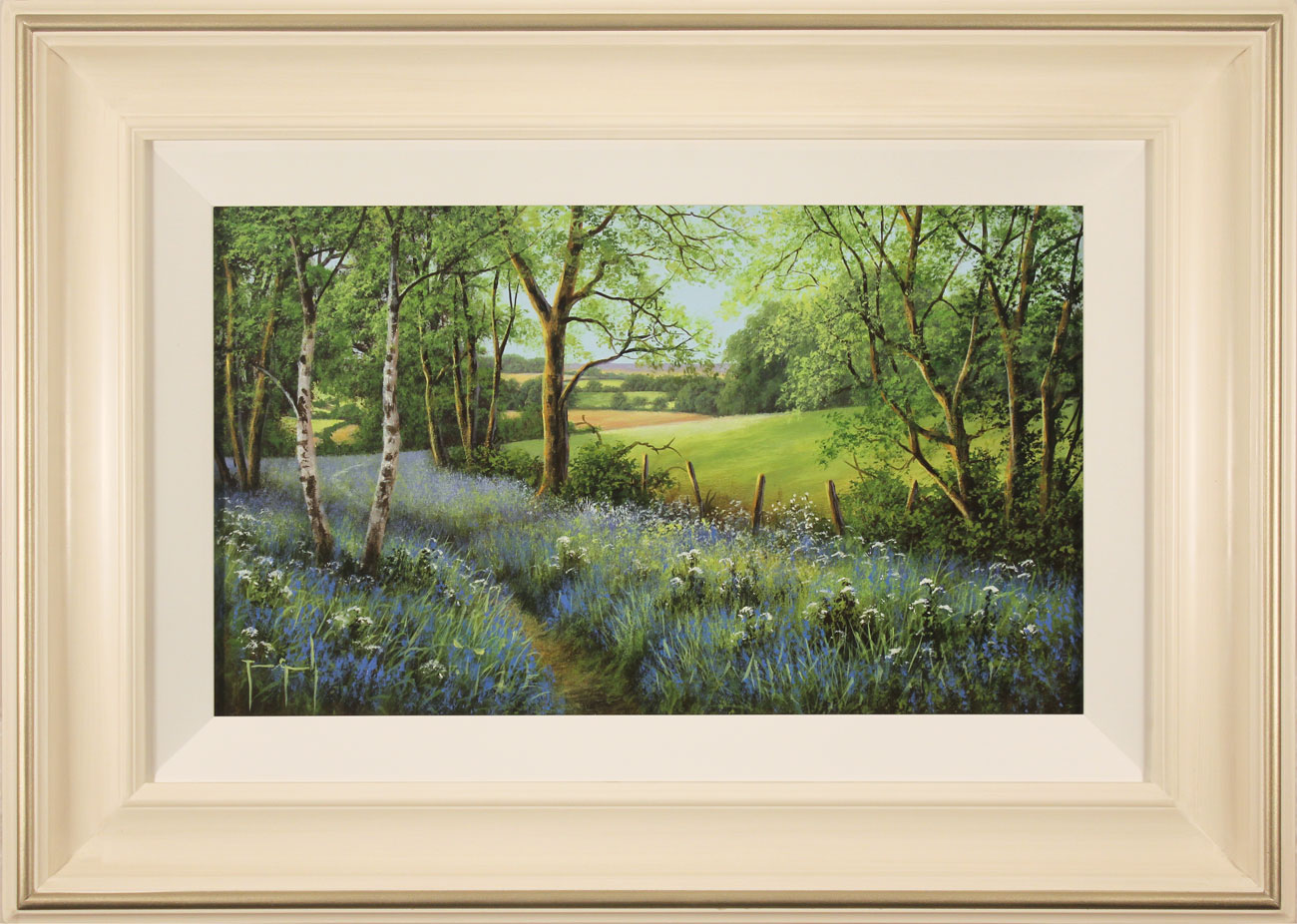 Terry Grundy, Original oil painting on panel, Woodland Bluebells Click to enlarge