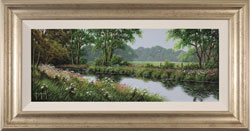 Terry Grundy, Calm of the River, Original oil painting on panel