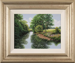 Terry Grundy, Original oil painting on panel, Midsummer Tranquillity Medium image. Click to enlarge