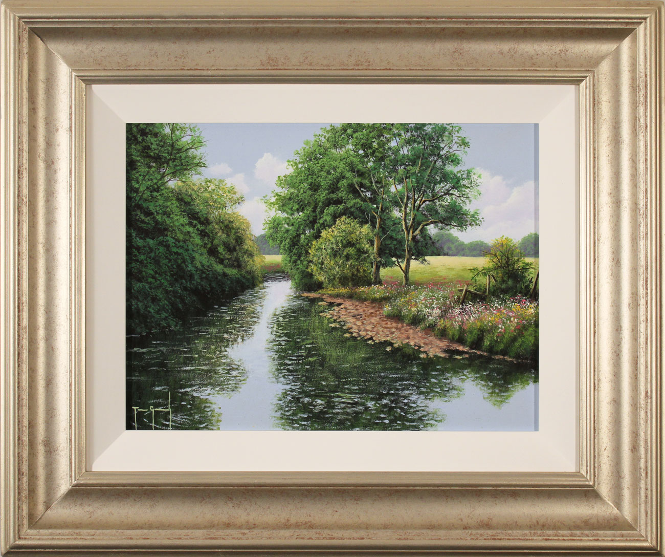 Terry Grundy, Original oil painting on panel, Midsummer Tranquillity Click to enlarge