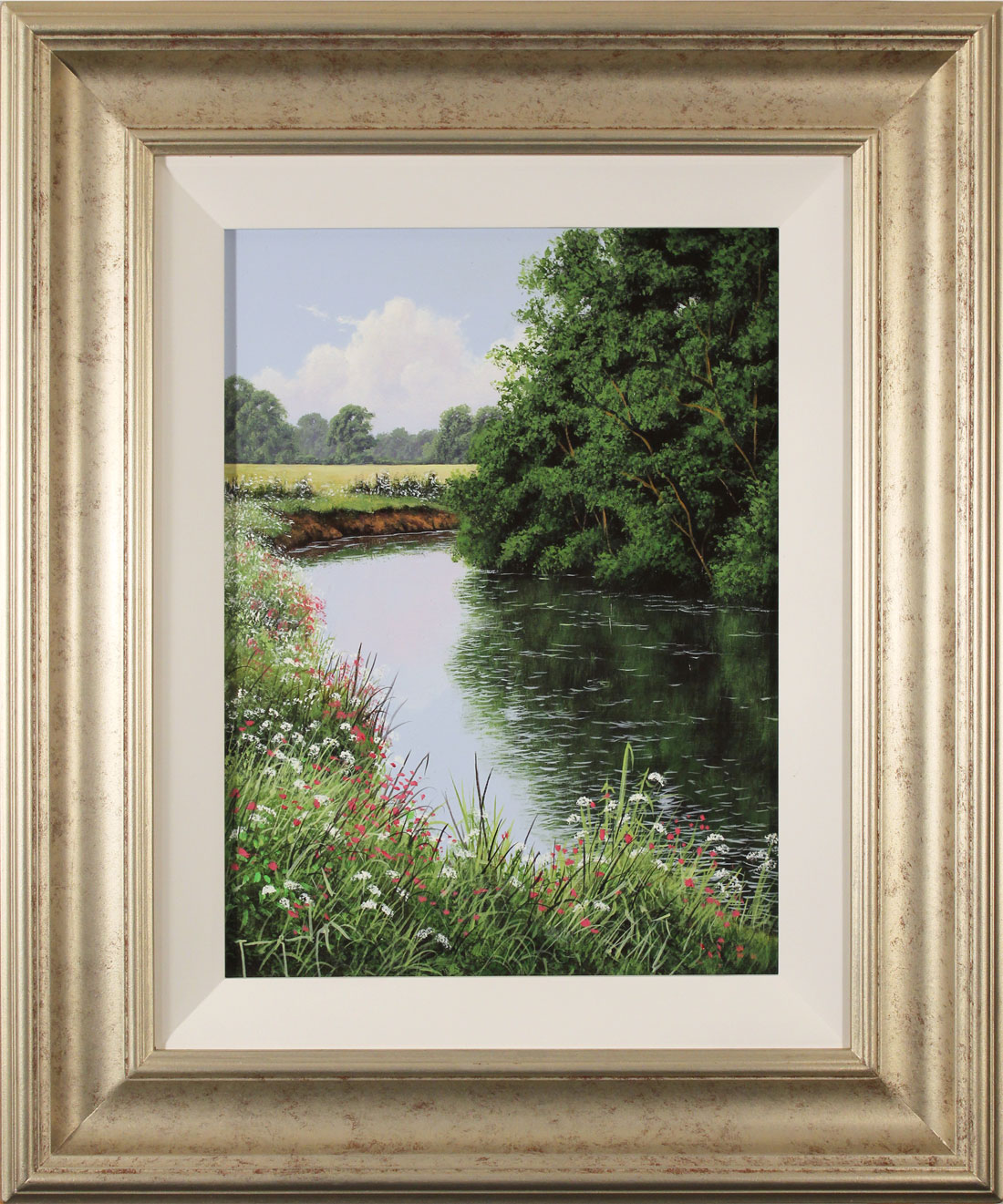 Terry Grundy, Original oil painting on panel, The River Eden Click to enlarge