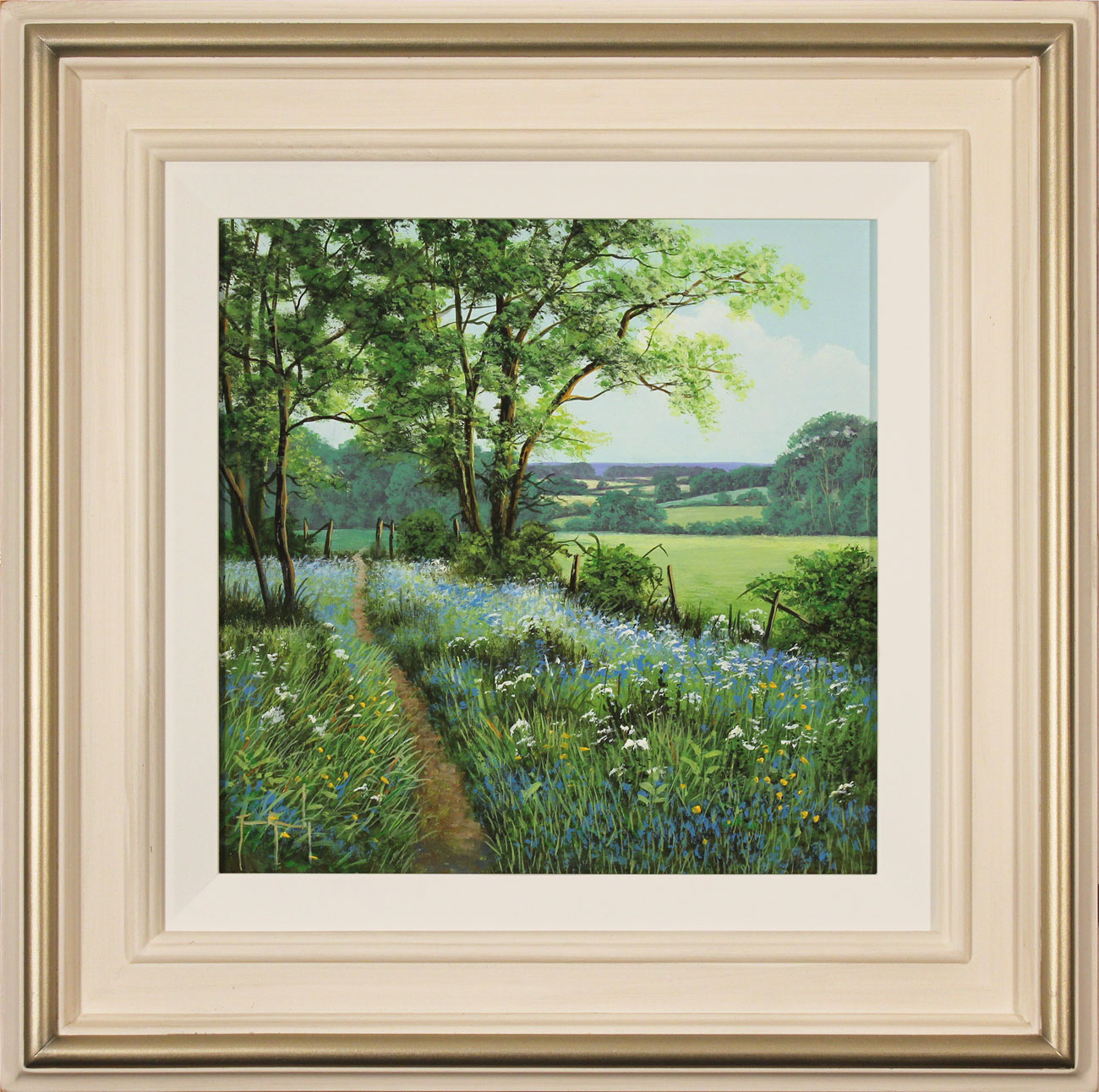 Terry Grundy, Original oil painting on panel, Bluebell Walk Click to enlarge