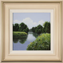 Terry Grundy, Original oil painting on panel, The River Wharfe