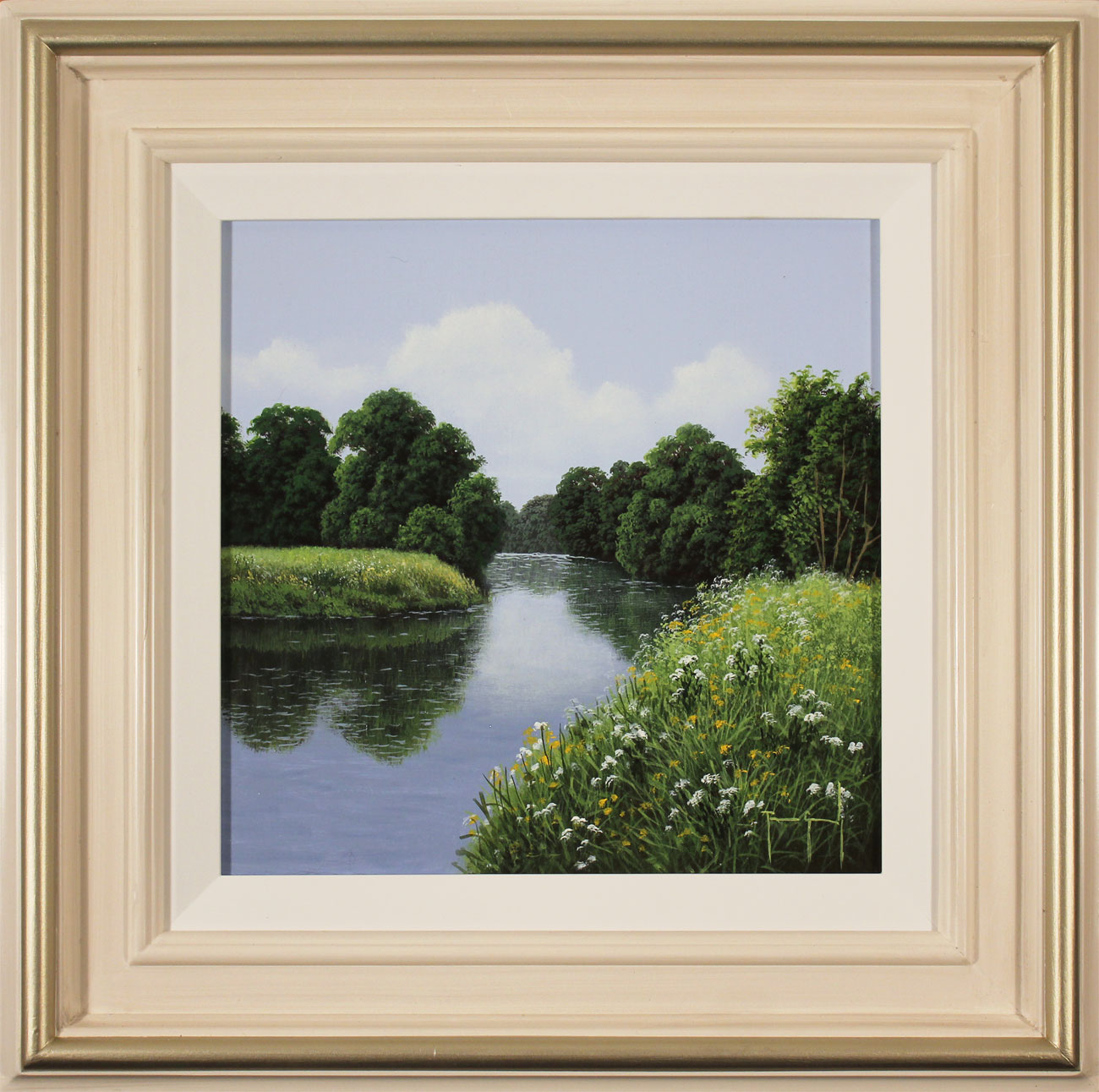 Terry Grundy, Original oil painting on panel, The River Wharfe Click to enlarge