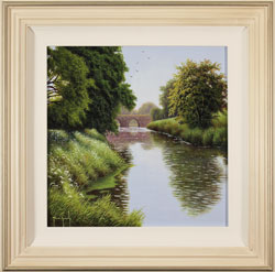 Terry Grundy, Original oil painting on panel, Summer by the River