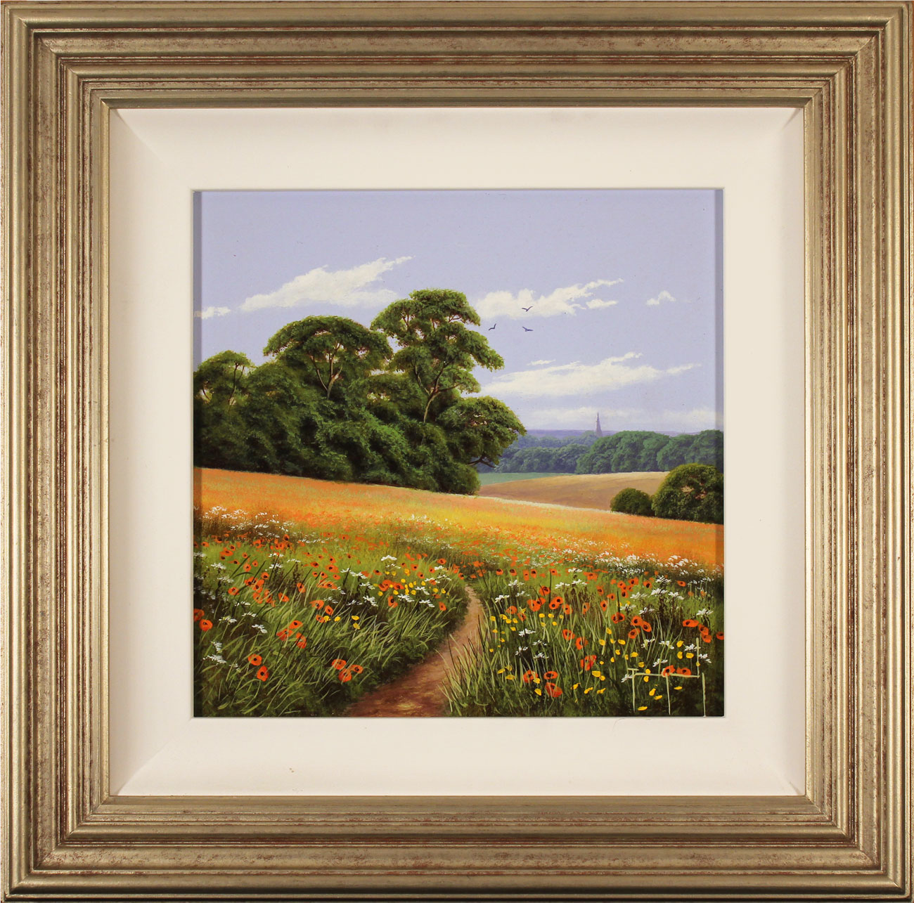 Terry Grundy, Original oil painting on panel, Poppy Fields Click to enlarge