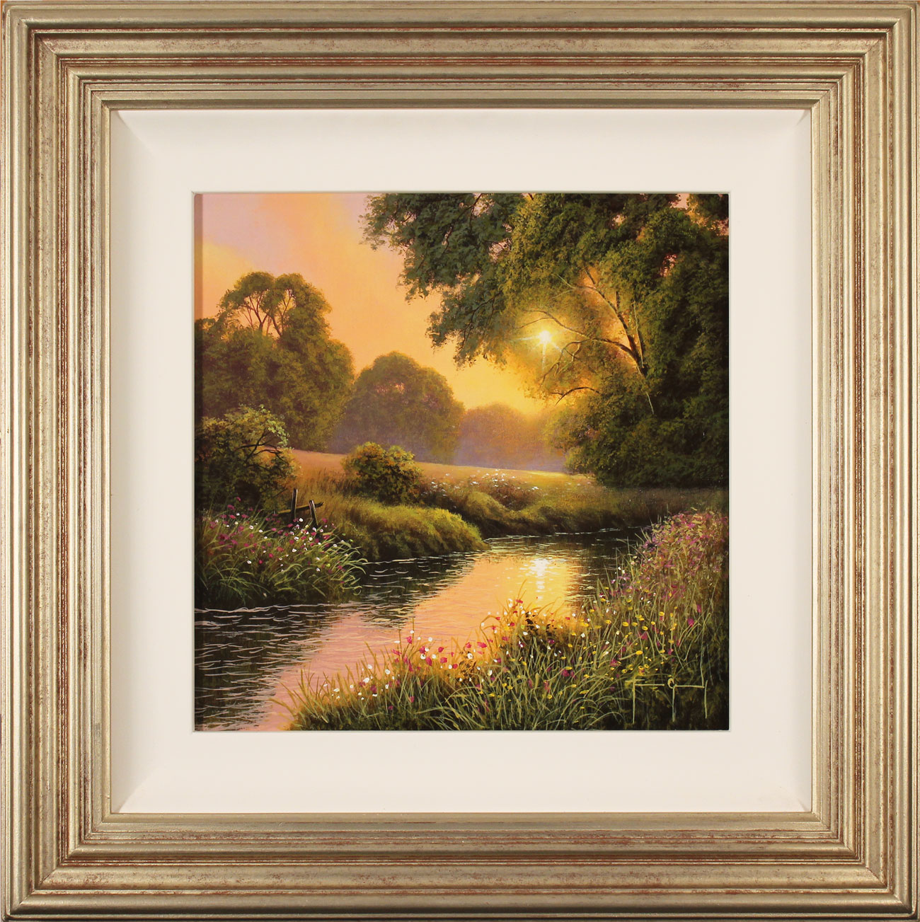 Terry Grundy, Original oil painting on panel, Summer Sunset Click to enlarge