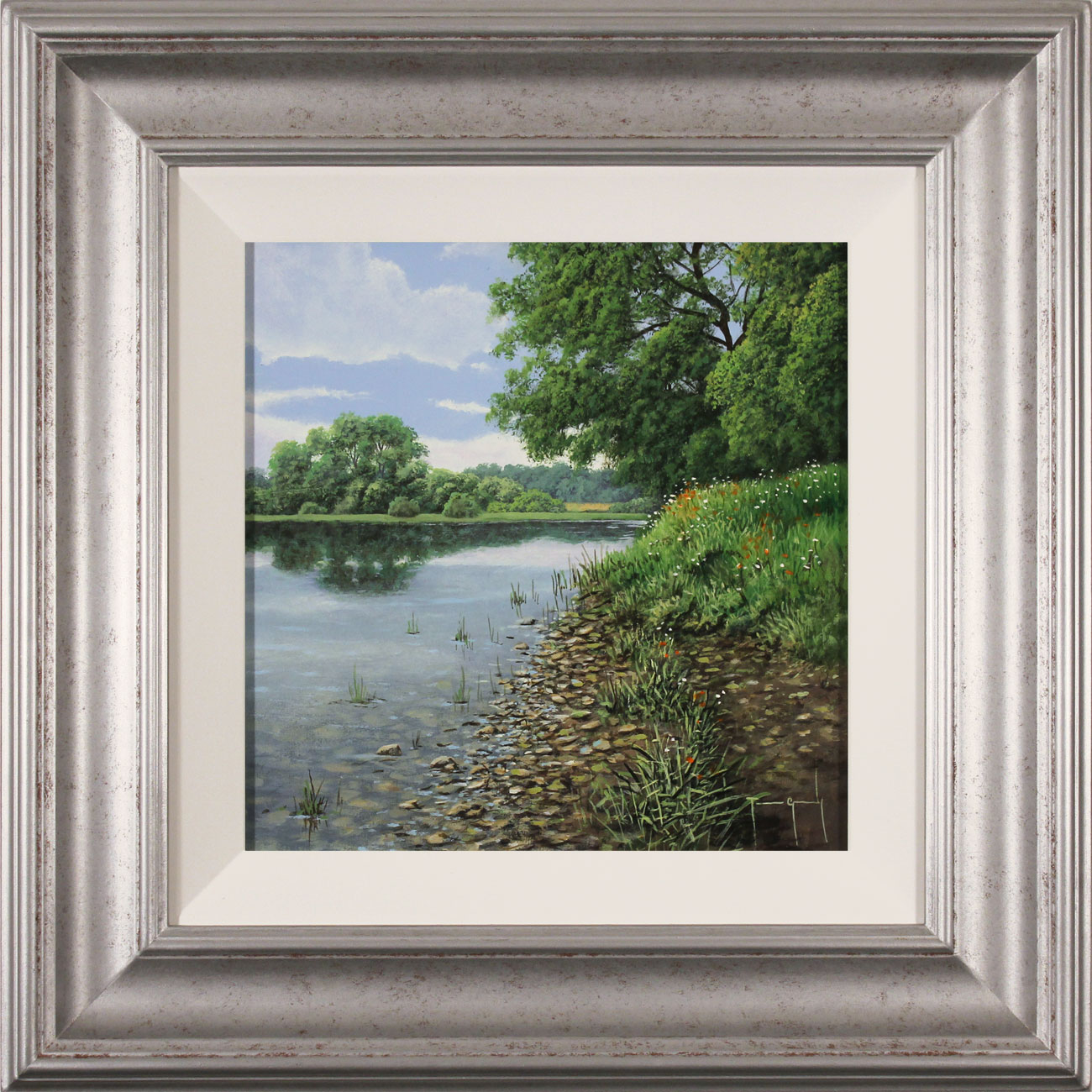 Terry Grundy, Original oil painting on panel, Calm of the River Click to enlarge