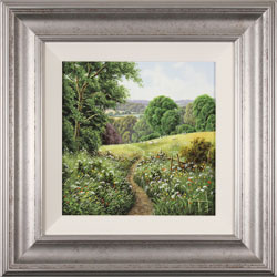 Terry Grundy, Original oil painting on panel, Passage of Meadowsweet  Medium image. Click to enlarge