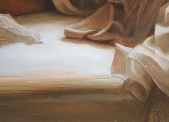 Tina Spratt, Original oil painting on panel, Sunday Morning Signature image. Click to enlarge