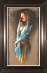 Tina Spratt, Pastel, Blue Shawl Medium image. Click to enlarge