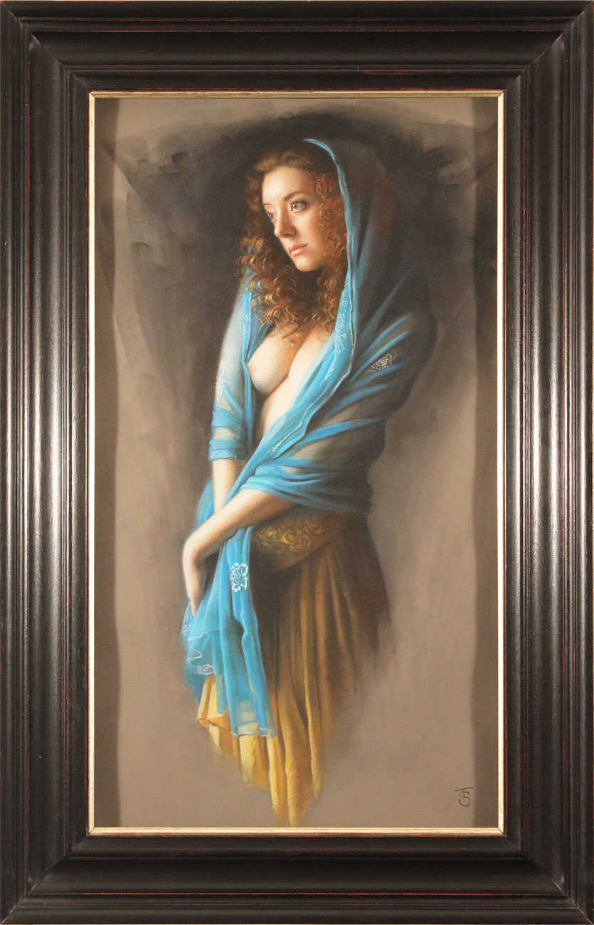 Tina Spratt, Pastel, Blue Shawl Click to enlarge