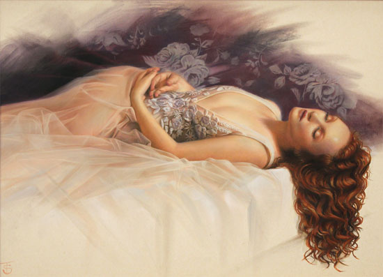 Tina Spratt, Pastel, Evanescent No frame image. Click to enlarge