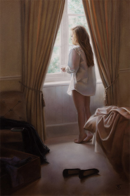 Tina Spratt, Pastel, In the Light of Day No frame image. Click to enlarge