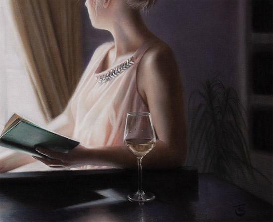 Tina Spratt, Pastel, Distant Gaze Signature image. Click to enlarge