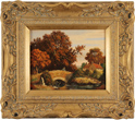 Vincent Selby, Original oil painting on panel, Autumn, One of a Set of 'Four Seasons'