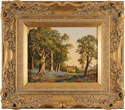 Vincent Selby, Original oil painting on panel, Spring, One of a Set of 'Four Seasons'