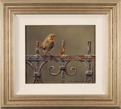 Wayne Westwood, Original oil painting on panel, A Friendly Visitor